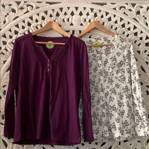 New with tags White Orchid Pajama Tops
